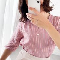 ストライプスキッパーシャツ//2colors