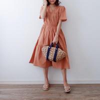 半袖ティアードワンピース//3colors