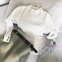 アニマル柄ベルト付きミニスカート