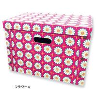 SALE ボックスインボックス 【カラーボックス用】フラワーAピンク