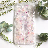 iPhone5~10対応/紫陽花のスマホケース/iphone各種/ピンク