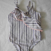 Babygirl  Zebra  Stripe  Print  Swimwear