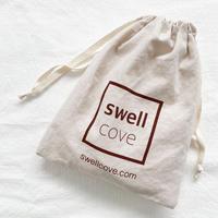 【swellcove】Original   LOGO Linen  Pouch