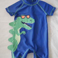 【carter's】Boy's  Crocodile  Blue  Swim  Bodysuit