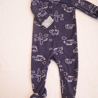 【carter's】fleece navy bodysuits
