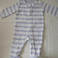 【aden&anais】 Baby Cotton Stripe Zip-up  Bodysuit