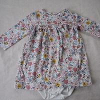 【 carter's】2-piece  Flower  Print  Ballon  Dress