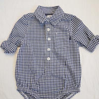 【oshkosh】check print dungaree shirts