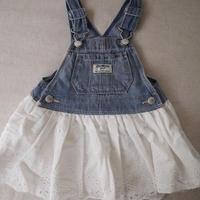 【OshKosh】Girl's  Denim  Laced Dress