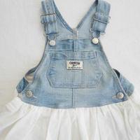 【oshkosh】Denim  Frill  Lace  Dress