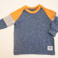 【oshkosh】melange NAVY long sleeve T-shirt