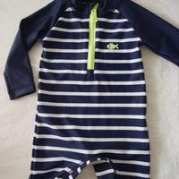 【carter's】 Boya's  Navy  Stripe  Swimsuit