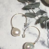 Baroque pearl pierces