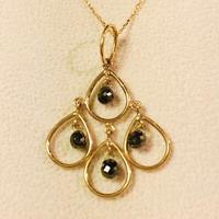 ブラックダイヤモンド シャンデリア ネックレス18金