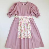サロンワンピース / Pink(白花)