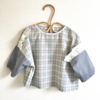 素朴なTの七分シャツ / Blue