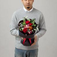 【BRILLIANCE+×GOLDENSYUNKA】クリスマス特別プロポーズブーケ Sサイズ(おまかせ)