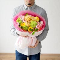 【BRILLIANCE+×GOLDENSYUNKA】おうちプロポーズブーケ Mサイズ(おまかせ)