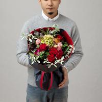 【BRILLIANCE+×GOLDENSYUNKA】クリスマス特別プロポーズブーケ Mサイズ(ご要望あり)