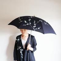 日傘・黒<白梅>