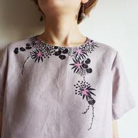 ギャザースカート くすみピンク <海中植物>