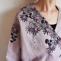リネン・羽織り くすみピンク <海中植物>
