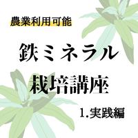 鉄ミネラル栽培講座(1.実践編)