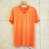 【RAFFAELLO】ORANGE V-Neck T-Shirt