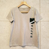 【RAFFAELLO】GRAY ROUND NECK T-Shirt