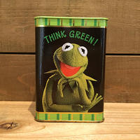 THE MUPPETS Kermit Tin Coinbank/マペッツ カーミット 缶貯金箱/190517-1