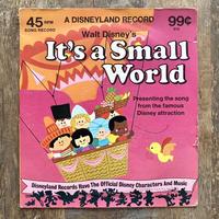 Disney It's a Small World EP Record/ディズニー イッツ・ア・スモールワールド レコード/210619−8