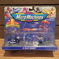 POWER RANGERS Micro Machines Blue Ranger Figure Set/パワーレンジャー マイクロマシン ブルーレンジャー フィギュアセット/180320-9