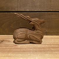 木彫りの鹿 置物/200408-7