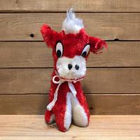 Red Cow Plush Doll/赤い牛 ぬいぐるみ/200521-9