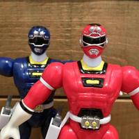 POWER RANGERS Red & Blue Turbo Ranger Figure/パワーレンジャー  ターボレンジャー2体セット フィギュア/190901-1