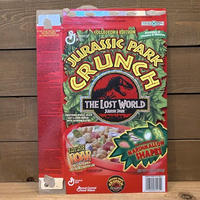 JP THE LOST WORLD Jurassic Park Crunch Box/ジュラシックパーク シリアルボックス/201109-9