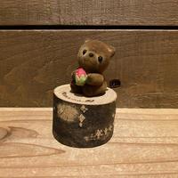 いちご熊 置物/200408-9