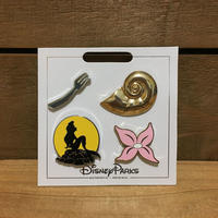 THE LITTLE MERMAID Little Mermaid Pin 4pcs Set/リトルマーメイド ピンズセット/180114-1