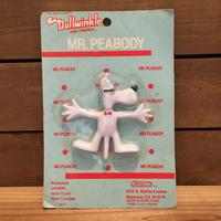 ROCKY & Bullwinkle Mr.Peabody Bendable Figure/ロッキーとブルウィンクル Mrピーボディ ベンダブルフィギュア/190628-4