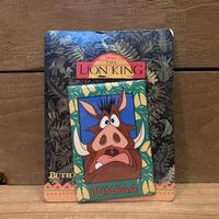 THE LION KING Pumbaa Button/ライオンキング プンバァ 缶バッジ/210816-2