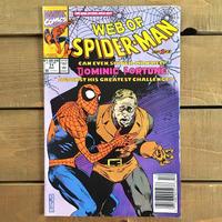 SPIDER-MAN Web of Spider-man Comics 1990.Dec.71/スパイダーマン コミック 1990年12月71号/190228-1