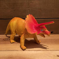 DINOSAUR Triceratops Rubber Toy/恐竜 トリケラトプス ラバートイ/190903-1