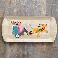 Disney Wood Tray/ディズニー ウッドトレイ/210822-5