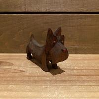 木彫りの犬 置物/200408-6