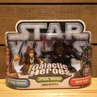 STARWARS GH Obi・Wan&Darth Vader Figure/スターウォーズ ギャラクティックヒーローズ オビ・ワン&ダース・ベイダー フィギュア/171216-15