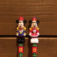 Disney Christmas Mickey&Minnie Figure Pencil Set/ディズニー クリスマス ミッキー&ミニー フィギュア鉛筆セット/171213-12