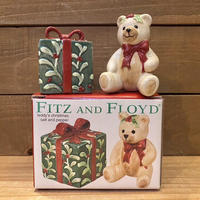 FITZ AND FLOYD Teddy's Christmas S&P/フィッツアンドフロイド テディクリスマス ソルト&ペッパー/201119-10