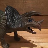 DINOSAUR Triceratops Rubber Toy/恐竜 トリケラトプス ラバートイ/181018-18