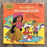 Disney It's a Small World EP Record/ディズニー イッツ・ア・スモールワールド レコード/210619−7