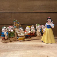 SNOW WHITE Snow White & Seven Dwarfs Ceramic Figurines/白雪姫 白雪姫と7人の小人 セラミックフィギュアリン/210215−17
